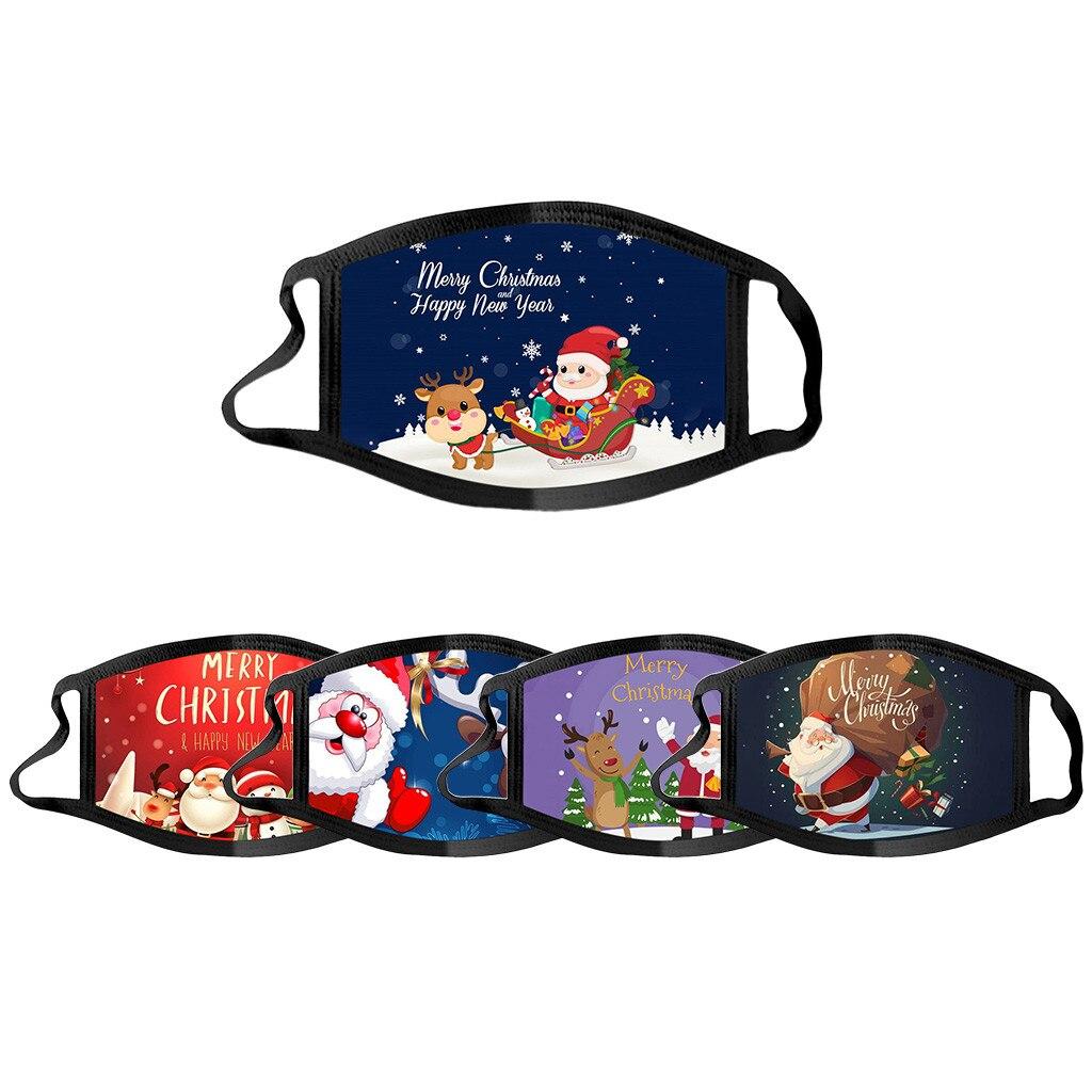 Adults Christmas Face Mask Reusable Washable Cotton Fabric Masque Adulte Réutilisable Estampada Mondmaskers Mask Masken #106 2