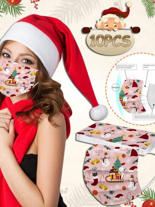 Grownup Girl Masks Disposable Christmas Face Masks