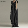 Sundress ZANZEA Summer season Gown Lengthy