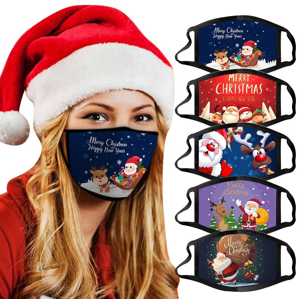 Adults Christmas Face Mask Reusable Washable Cotton Fabric Masque Adulte Réutilisable Estampada Mondmaskers Mask Masken #106