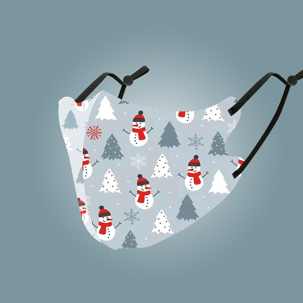 Men Women Christmas Face Mask Reusable Mouth Adlult Mask Outdoor Washable Mask For Face Warm Masks Girl Protective Red Mi Note 9 2