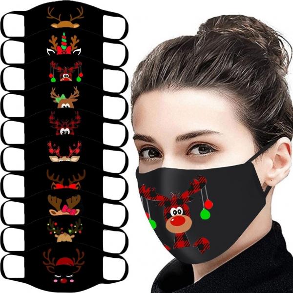 Grownup Outside Masks Cotton Christmas Face Masks