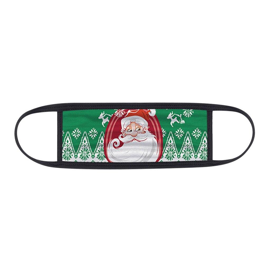 1PC Unisex Protect Spitting Protective Christmas Face Mask Adjustable Soft Washable Printed Pattern Mascarilla Navida 1