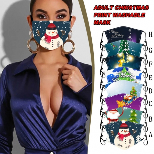 Christmas Face Masks Washable Proof Defend Face