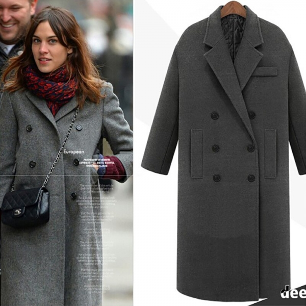 Ladies Double Breasted Christmas Blazer Outwear