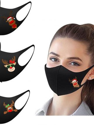 Christmas Face Masks Washable Mouth Cloth Facial Masks