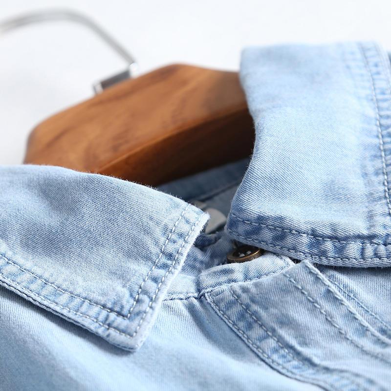 Oversized Jeans Shirt Dress Women Clothes Vestidos Casual Solid Denim Dress Female Elegant Vintage Shirt Dress Robe Femme Q2640 3