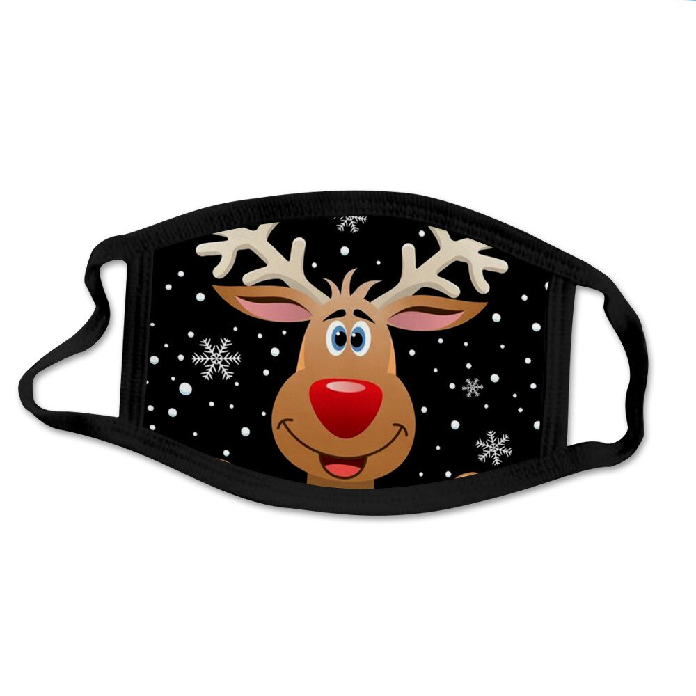 Resuable Christmas Face Mask Breathable Washable Face Shield Xmas Gift Christmas Ornaments Noel Halloween Christmas Mouth-muffle 3