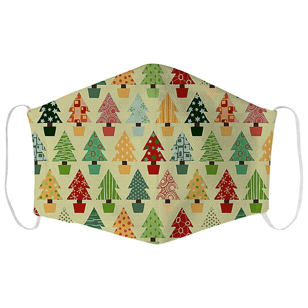 1PCS Adults Merry Christmas Face Mask Unisex Mouth Warm Windproof Cotton Santa Claus Elk Printing маска для лица балаклава маски 2