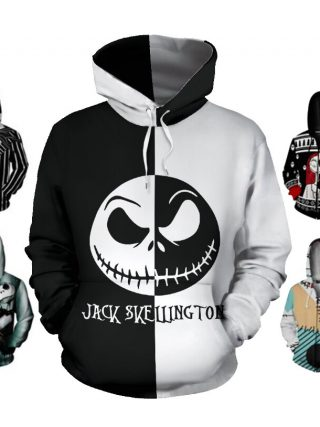 Anime Hoodie Ladies Males Nightmare Earlier than Christmas