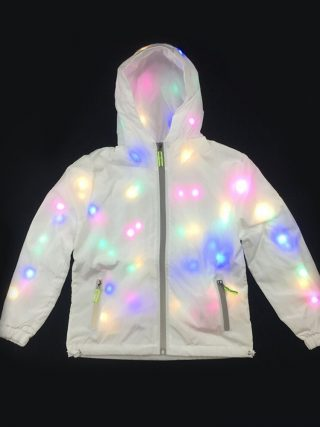 Girls Waterproof LED Glowing Jacket