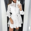 Ladies Elegant Flip-Down Collar Shirt Costume