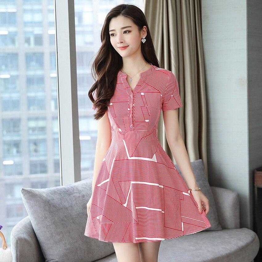 Huti Wjwyl Summer Red Striped Mini Sundress 2020 Bodycon Elegant Women Club Midi Dresses Party Short Shirt Dress Beach Vestidos 4