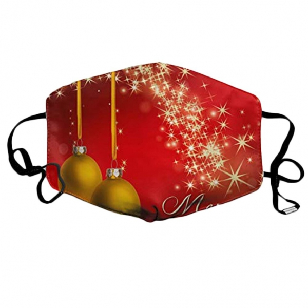 Christmas Print Resue Breathable Facemask