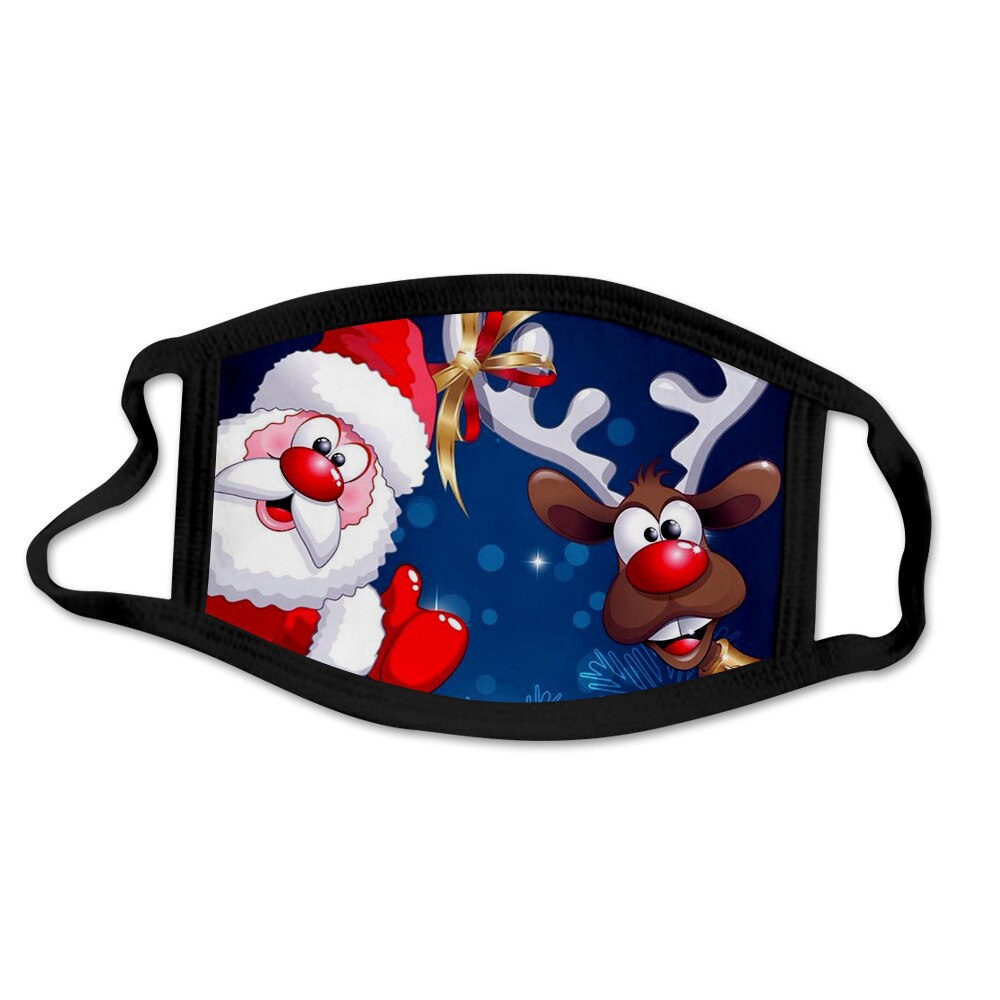 Resuable Christmas Face Mask Breathable Washable Face Shield Xmas Gift Christmas Ornaments Noel Halloween Christmas Mouth-muffle 4