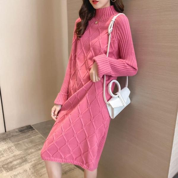Half Turtleneck Sweater Costume Girls Plaid Thic
