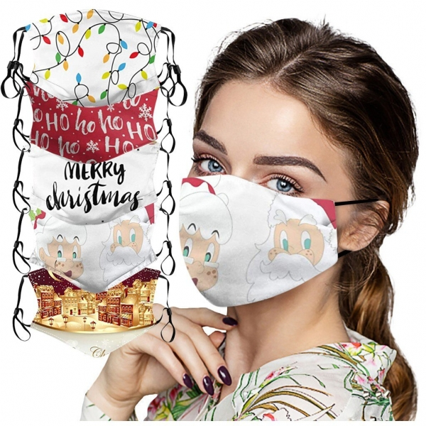 Christmas Face Masks Washable Proof