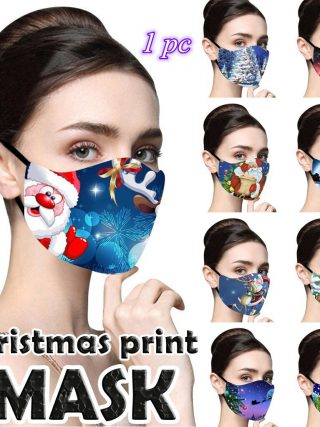 Christmas Face Masks Printed Reusable Washable