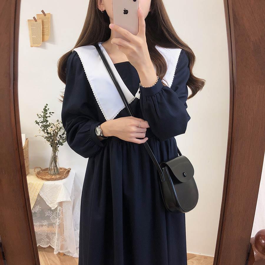 new Plus size Autumn Dress Girls Boho Party Female Vintage Dress plaid buttons Long Sleeve Women Dresses Long shirt Robe Vestido 2