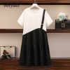 Plus Measurement Girls Informal Gown Summer time Korean Vogue