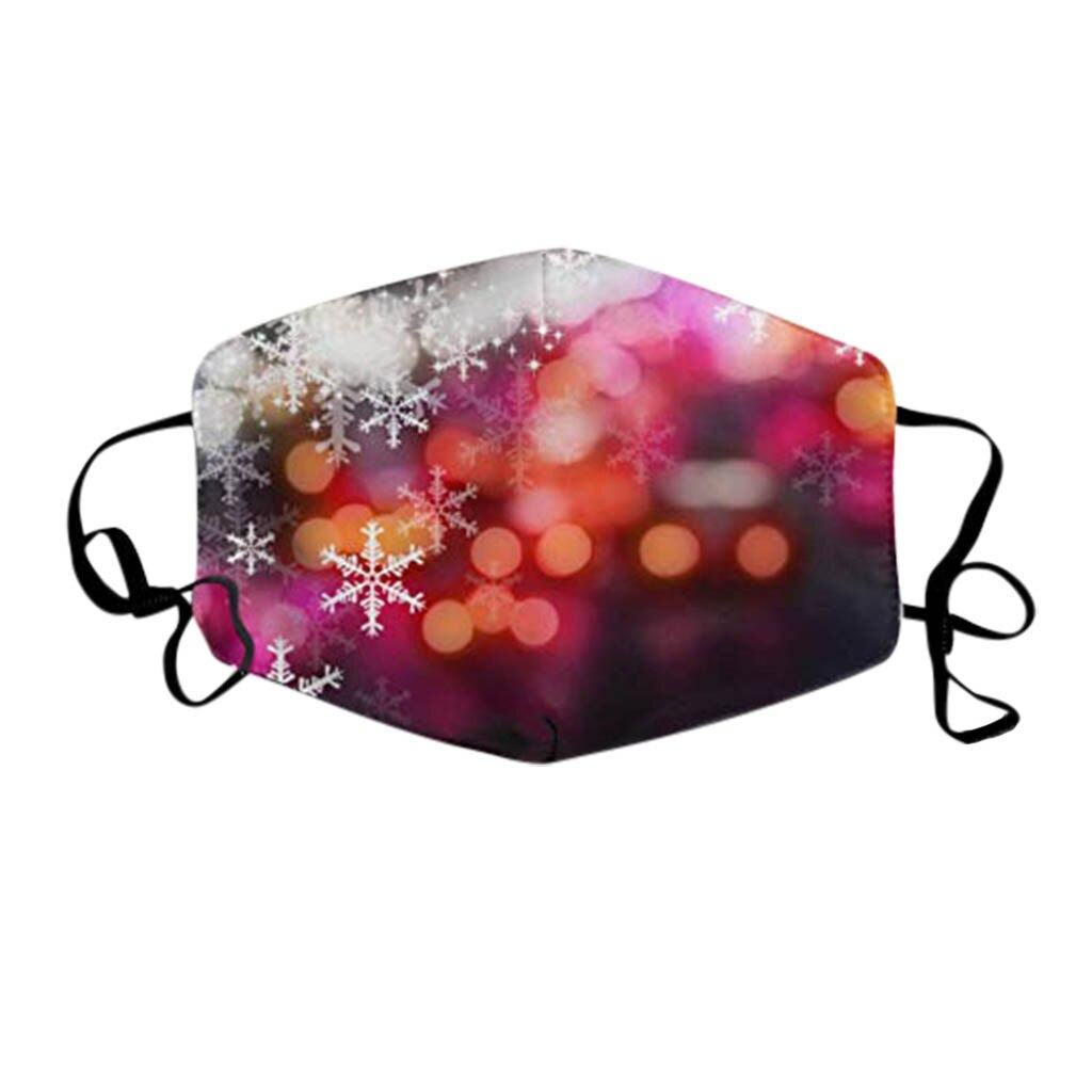 Adults Christmas Face Mask Washable Christmas Expression Prints Fabric Facial Mask Filter Adult New Year Mouth Cover Maske#YL5 3