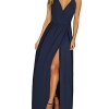 V-Neck Casual Dress Summer Beach Backless Slit Maxi Dress for Wedding Guest