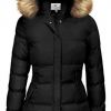 Women's Winter Thicken Padded Parka Jacket with Fur Trim Hood