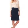 Comfort Chic n' Casual Stretch Jean Skirt