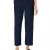 Women's Around Elastic Waist Polyester Short Pull-On Style Pants