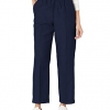 Women's All Around Elastic Waist Polyester Navy Pants