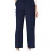 Women's All Around Elastic Waist Polyester Navy Pants