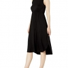 Women's Jersey Standard-Fit Sleeveless Gathered Dress