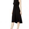 Women's Jersey Standard-Fit Sleeveless Gathered Dress