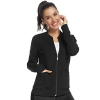 Women's Zip Front Warm-Up Jacket Black