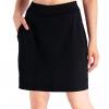 "Women's 4 Pockets UV Protection 17"" Long Tennis Running Skirt"