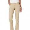 Dickies Women's Flat Front Stretch Twill Pant Slim Fit Bootcut, Desert Sand, 20 Regular