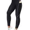 Women Reflective High Waisted Running Leggings with Pockets
