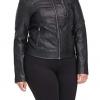 Women's Faux Leather Motocross Racer Jacket