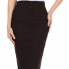 Petite High Waist Stretch Pencil Skirt