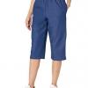 Elastic Waist Denim Capris Pants Jeans