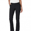 Black Women's Flat Front Stretch Twill Pant Slim Fit Bootcut