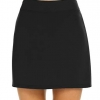 Casual Skort Stain Resistant Skirts Tennis Black