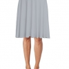 Soft Stretch Mid Midi Knee Length Flare Flowy Skirt