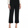 Pull-On Style All Around Elastic Waist Polyester Cropped Missy Pants