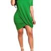 Night Out Outfit for Cocktail Women's Irregular Hem T Shirt Dress