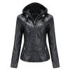 Faux Leather Jacket Women Motorcycle Coat for Biker
