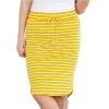 Short Skirt for Women Knee Length Casual Striped
