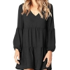 Casual Swing Ruffle Long Sleeve Tunic Dress