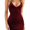 Zyyfly Doramode Womens Spaghetti Strap Bodycon Sleeveless Backless Velvet Sexy Short Club Dress MATERIAL: Polyester and Spandex, Good Quality Velvet Fabric Shiny Surface and the Touch Feeling is Comfortable, Suede Soft, Silky, Breathable with Good Elasticity