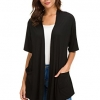 Womens Short Sleeve Open Front Cardigans Sweater